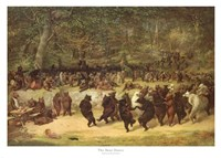 The Bear Dance, c.1870 Framed Print