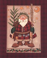 "Woodland Santa by Rebecca Carter - 8"" x 10"""