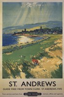 "Vintage Golf - St Andrews by Mali Nave - 24"" x 36"""