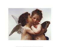 """The First Kiss by William Adolphe Bouguereau - 14"""" x 11"""""""