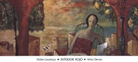 "Interior Rojo by Didier Lourenco - 39"" x 18"""