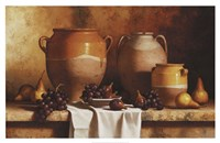 Confit Jars with Fruit Fine Art Print