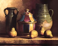 Moroccan Pottery with Pears Fine Art Print