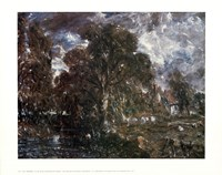 John Constable - On the River Stour Fine Art Print