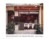 Restaurant Au Beaujolais Fine Art Print