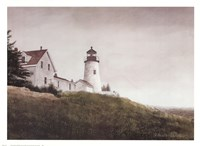 Mist at Pemaquid Light Fine Art Print