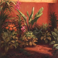 "Jardin Tropical by Hali - 28"" x 28"""