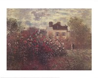 The Artist's Garden in Argenteuil (A Corner of the Garden with Dahlias), c.1873 Fine Art Print