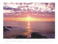 Sunrise from Portland Head Light Fine Art Print