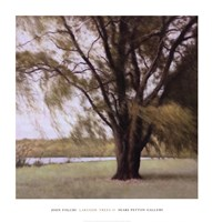 Lakeside Trees II Framed Print