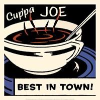 Cup'pa Joe Best in Town Framed Print