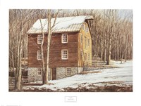 Mill in the Woods Fine Art Print