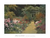"Italian Garden by Allan Myndzak - 34"" x 26"""