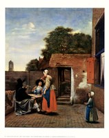 Dutch Courtyard Fine Art Print