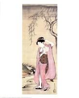 Girl Under a Willow Fine Art Print