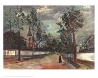 Street in Suburbs Fine Art Print