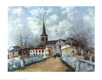 Church in Suburbs Fine Art Print