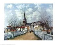 Church in Suburbs Fine Art Print