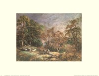 Landscape With Resting Men Fine Art Print