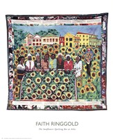 Sunflowers Quilting Bee At Arles Fine Art Print