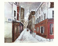 Sacre-Coeur in Winter Fine Art Print