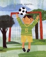 "I Love Sports by Maria Carluccio - 8"" x 10"""