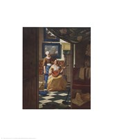"""Letter, The by Johannes Vermeer - 22"""" x 27"""""""