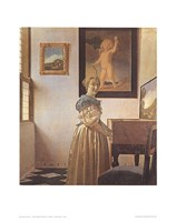 Young Woman Standing At a Virginal Fine Art Print