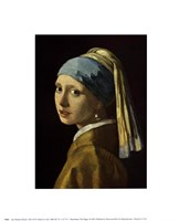 """Girl with a Pearl Earring, 1665 by Johannes Vermeer, 1665 - 8"""" x 10"""""""