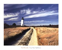 "Cape Poge Lighthouse by Paul Rezendes - 32"" x 26"""