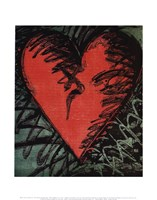 Rancho Woodcut Heart Fine Art Print