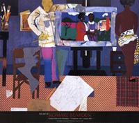 "Profile/Part II, The Thirties: Artist with Painting and Model, 1981 by Romare Bearden, 1981 - 29"" x 26"""
