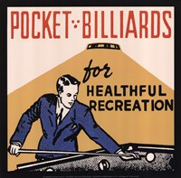 "Pocket Billiards for Healthful Recreation by Retro Series - 12"" x 12"""