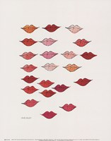 (Stamped) Lips, c. 1959 Framed Print