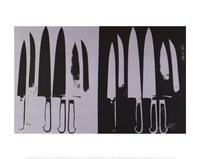 Knives, c. 1981-82 (silver and black) Fine Art Print