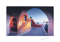"Sunlit Steps (27-1/2 x 19-1/2) by George Meis - 28"" x 20"""