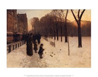 "Boston Common at Twilight-86, 1885 by Childe Hassam, 1885 - 14"" x 11"" - $10.99"