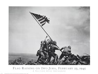 Flag Raising on Iwo Jima, February 23, 1945 Framed Print
