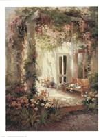 Sunlit Terrace Fine Art Print