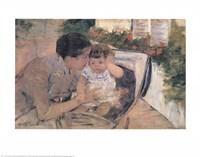 Susan Comforting the Baby Fine Art Print