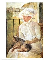 Woman with Dog Fine Art Print