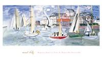 Regates dans le Port de Trouville Fine Art Print