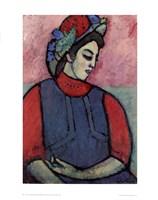 Girl Wearing an Apron Fine Art Print