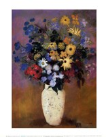 "Vase of Flowers, 1914 by Odilon Redon, 1914 - 11"" x 14"" - $10.99"