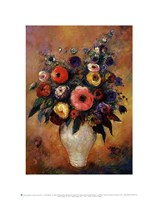 "Vase of Flowers, 1912 by Odilon Redon, 1912 - 11"" x 14"" - $10.99"