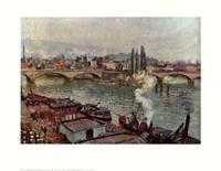 Stone Bridge, Rouen Fine Art Print