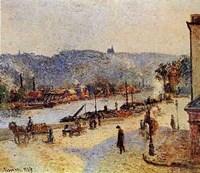 Quays At Rouen Fine Art Print