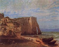 Cliffs At Etretat After a Storm Fine Art Print