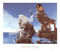 "Swan Lake by Michael Parkes - 32"" x 28"""