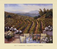 Vineyards to Mount St. Helena Fine Art Print
